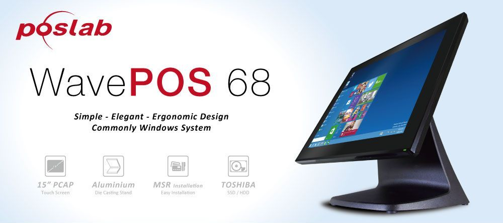 WavePOS 68 | Simple - Elegant - Ergonomic Design Commonly Windows System